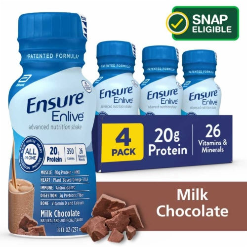 Ensure Enlive Advanced Milk Chocolate Ready-to-Drink Nutrition Shake Perspective: front
