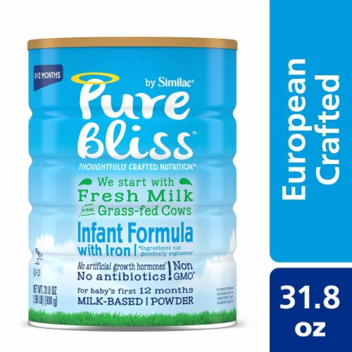Pure Bliss by Similac Non-GMO Powder Infant Formula Perspective: front