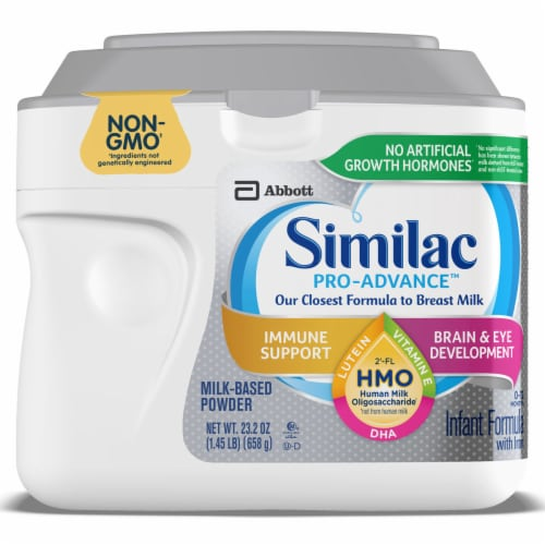 Similac Pro-Advance Non-GMO with 2'-FL HMO Powder Infant Formula with Iron Perspective: front