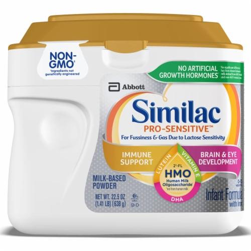 Similac Pro-Sensitive Non-GMO with 2'-FL HMO Infant Formula Powder Perspective: front
