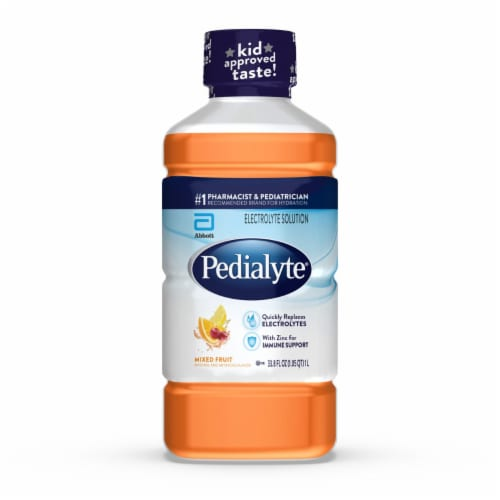 Pedialyte Mixed Fruit Ready-to-Drink Electrolyte Solution Perspective: front