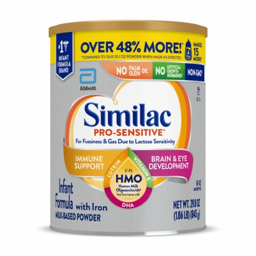 Similac Pro-Sensitive Milk-Based Powder Infant Formula with Iron Perspective: front