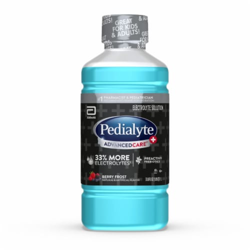 Pedialyte AdvancedCare Plus Berry Frost Ready-to-Drink Electrolyte Solution Perspective: front