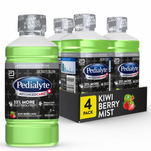 Pedialyte AdvancedCare Plus Kiwi Berry Mist Electrolyte Solution Perspective: front