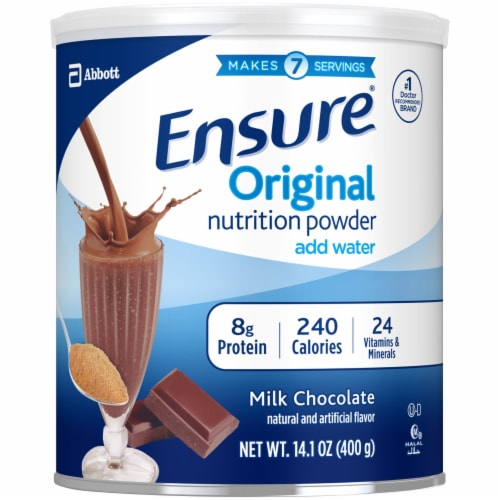 Ensure Original Chocolate Nutrition Powder Perspective: front