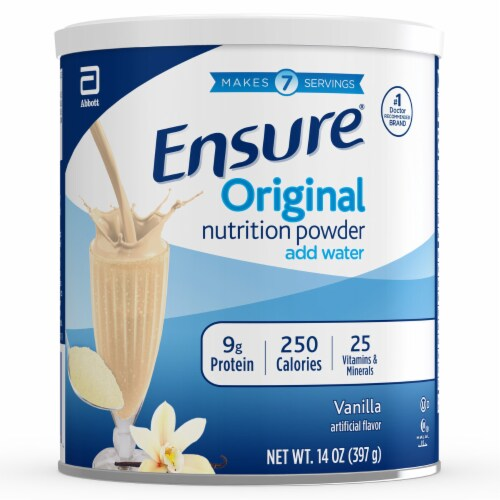 Ensure Original Vanilla Nutrition Powder Perspective: front