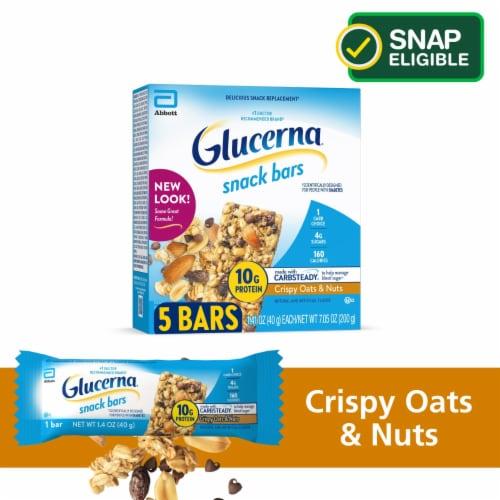 Glucerna Crispy Oat & Nuts Snack Bars Perspective: front
