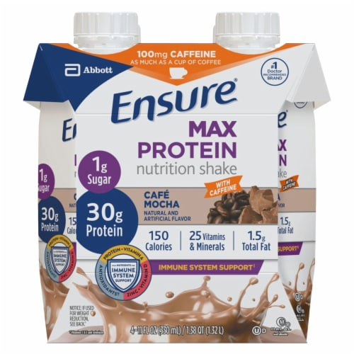 Ensure Max Protein Cafe Mocha Ready-to-Drink Nutrition Shake Perspective: front