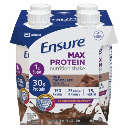 Ensure Max Protein Milk Chocolate Ready-to-Drink Nutrition Shake Perspective: front