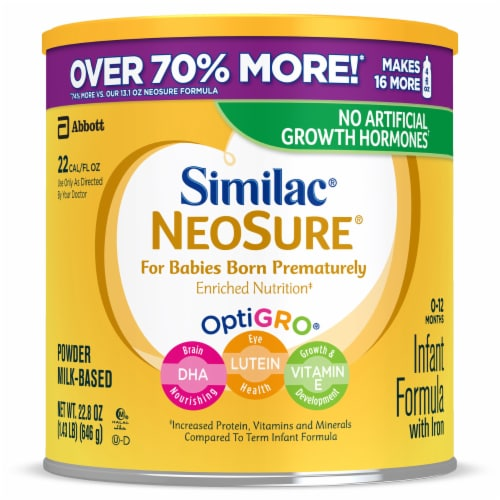 Similac NeoSure For Babies Born Prematurely Powder Infant Formula Perspective: front