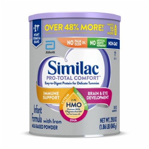 Similac Pro-Total Comfort Milk-Based Powder Infant Formula with Iron Perspective: front