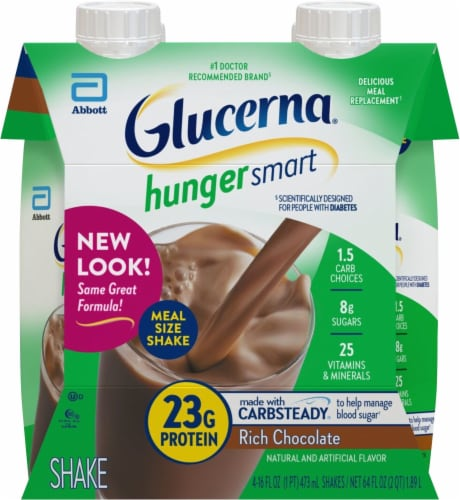 Glucerna Hunger Smart Rich Chocolate Ready-to-Drink Nutritional Shakes Perspective: front