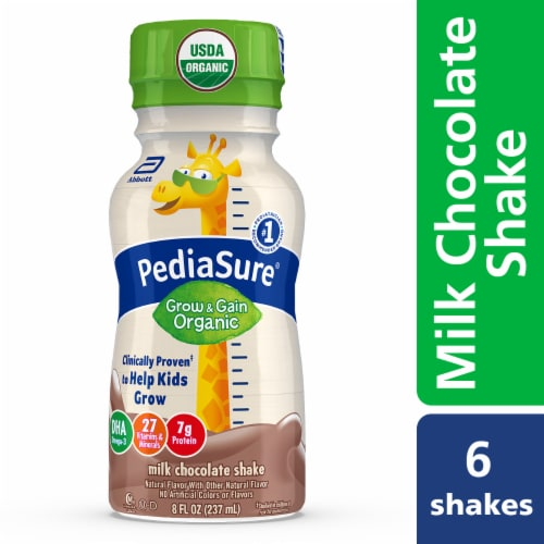 PediaSure Organic Milk Chocolate Shakes Perspective: front