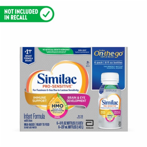 Similac Pro-Sensitive 0-12 Month Human Milk Oligosaccharide Infant Formula Perspective: front