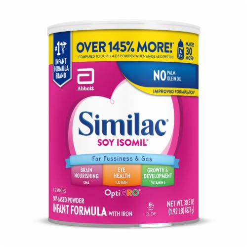 Similac Soy Isomil Powder with Iron Infant Formula Perspective: front