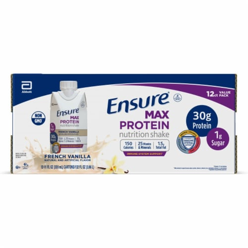 Ensure Max Vanilla Protein Shake Perspective: front