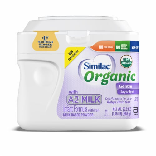 Similac Organic with A2 Milk Powder with Iron Infant Formula Perspective: front