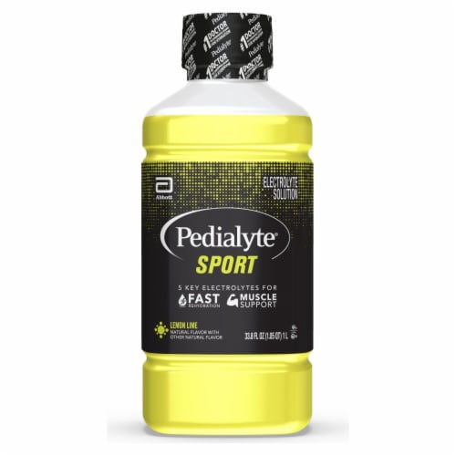 Pedialyte Sport Lemon Lime Electrolyte Solution Perspective: front