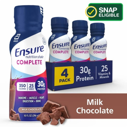 Ensure Complete Chocolate Nutrition Shake Perspective: front