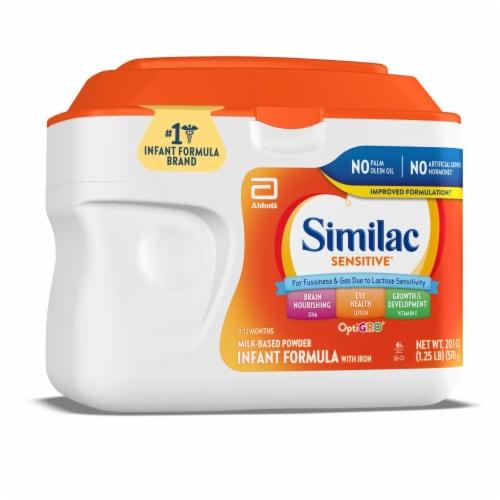 Similac Sensitive Infant Formula Powder Perspective: front