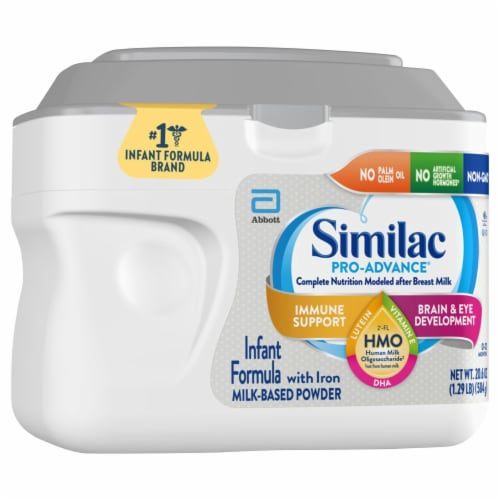 Similac Pro-Advance Milk-Based Powder Infant Formula with Iron Perspective: front