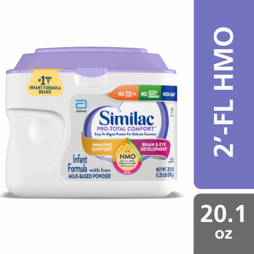 Similac Pro-Total Comfort Milk Based Powder Infant Formula with Iron Perspective: front