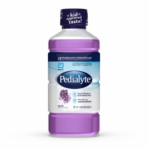 Pedialyte Grape Electrolyte Solution Perspective: front