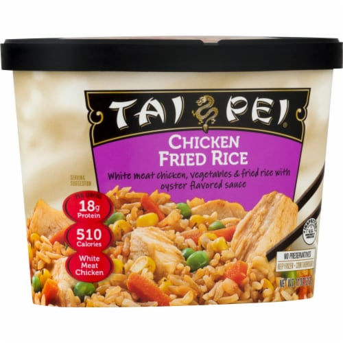 Tai Pei Chicken Fried Rice Perspective: front