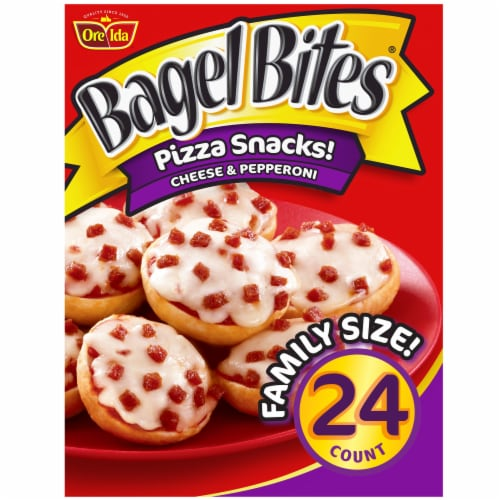 Bagel Bites Cheese & Pepperoni Pizza Snacks Perspective: front