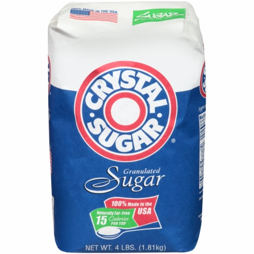 Crystal Granulated Sugar Perspective: front