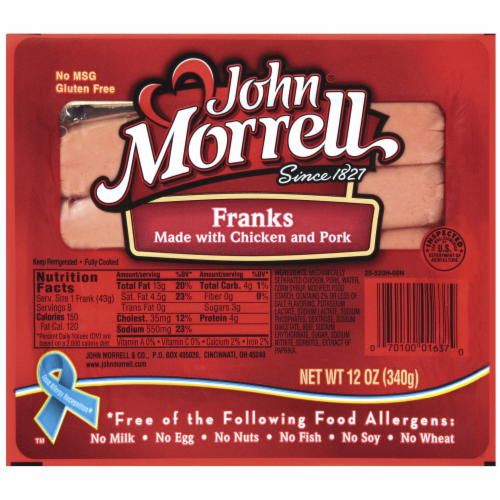 John Morrell® Chicken and Pork Franks Perspective: front
