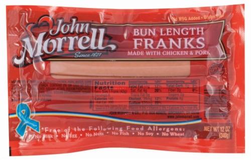 John Morrell Bun Length Franks 8 Count Perspective: front