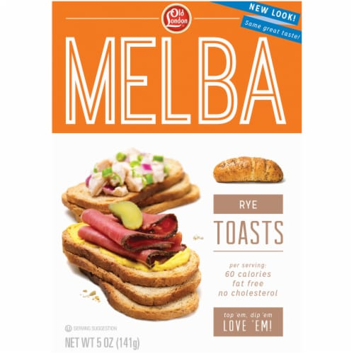 Old London Rye Melba Toast Perspective Front