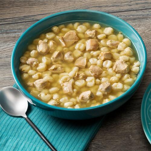 Juanita's Pozole De Pollo Chicken & Hominy Soup Perspective: front