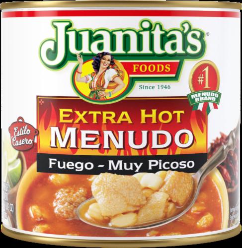 Juanita's Extra Hot Menudo Perspective: front