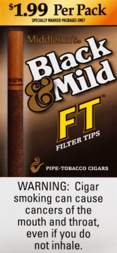 Black & Mild Filter Tips Pipe-Tobacco Cigars Perspective: front
