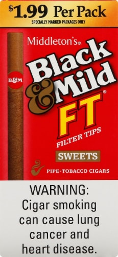 Black & Mild Filter Tips Sweets Pipe-Tobacco Cigars Perspective: front