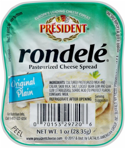 Rondele Original Plain Cheese Spread Perspective: front