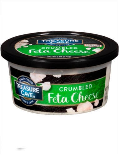 Treasure Cave Crumbled Feta Cheese Perspective: front
