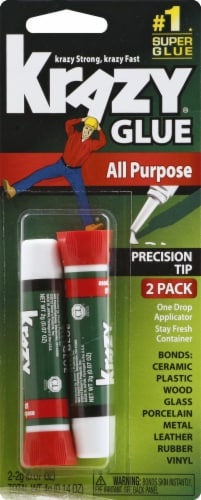 Elmer's Instant Krazy Glue All-Purpose Tubes Perspective: front
