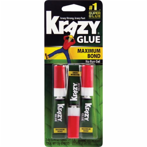 Krazy Glue 0.14 Oz. Maximum Bond Super Glue Gel (3-Pack) KG48812 Perspective: front