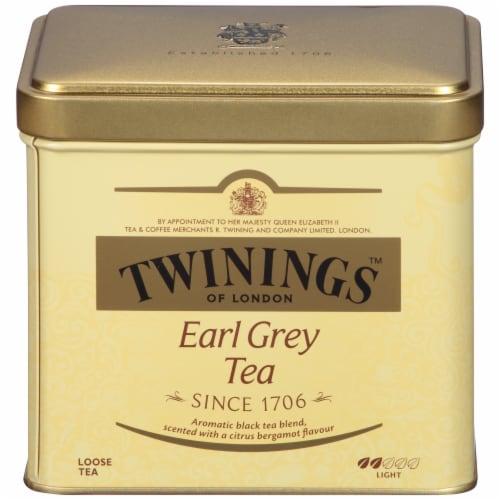 Twinings Of London Earl Grey Tea Loose Tea Tin Perspective: front