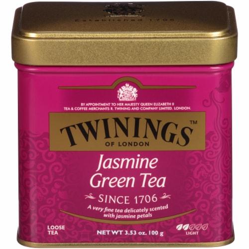 Twinings Of London Jasmine Green Tea Loose Tea Tin Perspective: front