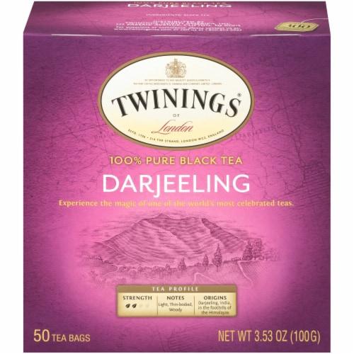 Twinings Of London Darjeeling Pure Black Tea Bags 50 Count Perspective: front
