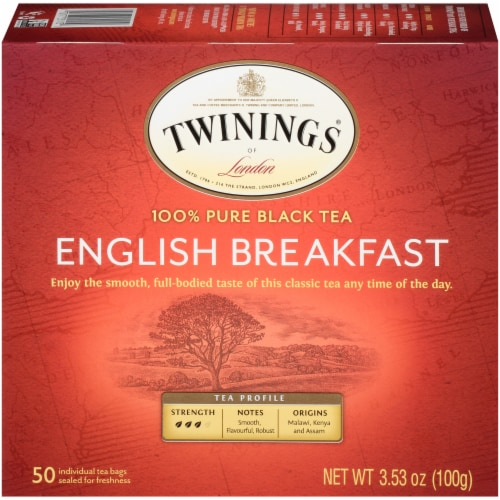 Twining English Breakfast Black Tea Perspective: front