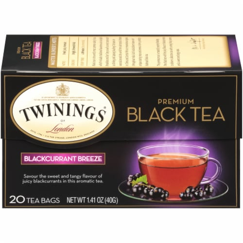 Twinings Of London Black Currant Breeze Premium Black Tea Bags Perspective: front