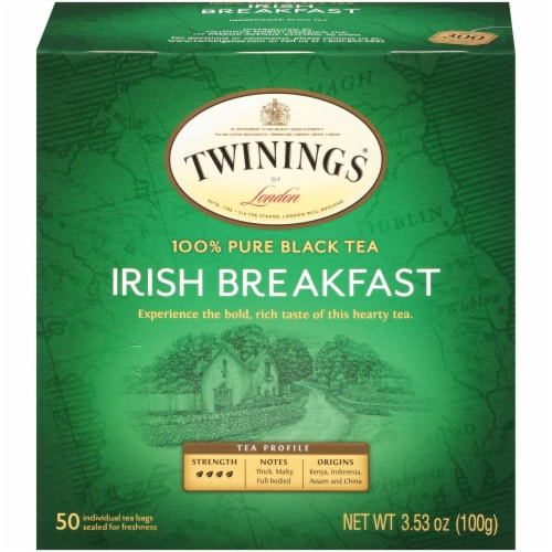 Twinings Irish Breakfast Tea Bags Perspective: front