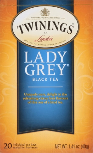 Twinings Of London Lady Gray Black Tea Bags Perspective: front