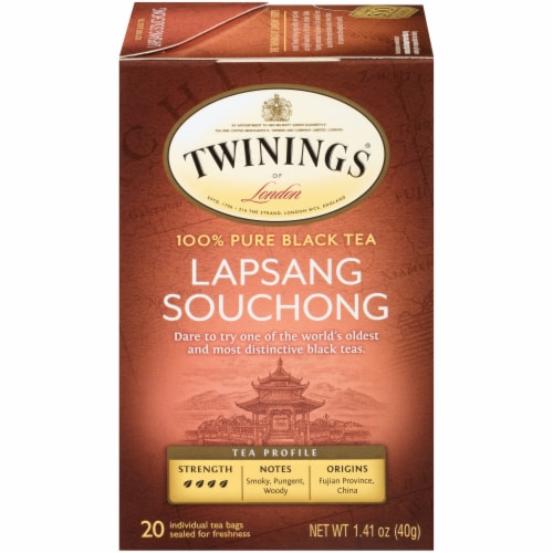 Twinings Of London Lapsang Souchong Pure Black Tea Bags Perspective: front