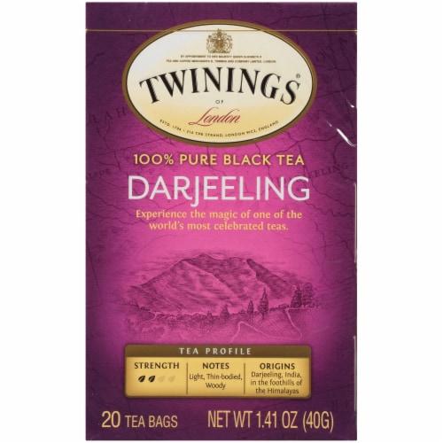 Twinings Of London Darjeeling Pure Black Tea Bags Perspective: front
